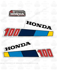 Honda 100 outboard stickers