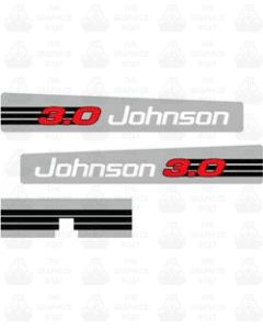 Johnson 3.0 OUTBOARD DECAL STICKER GRAPHIC