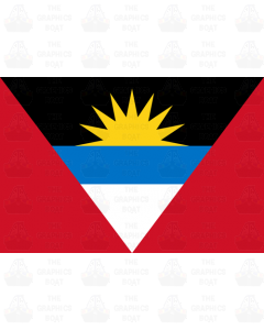 Antigua flag stickers
