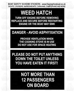 Boat Safety/Warning Stickers C