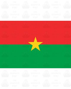 Burkino faso flag sticker