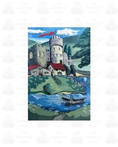 Traditional Canal Boat Castle  Scene 10