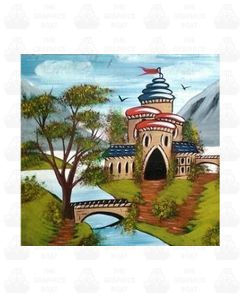 Traditional Canal Boat Castle  Scene 7