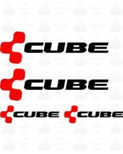 Cube Bicycle Decal Sticker Set