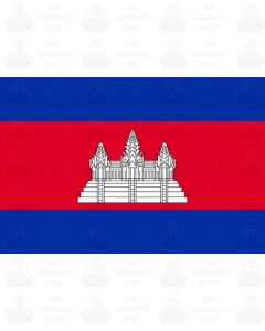 Cambodia flag sticker