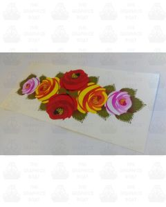 Canal boat rose sticker