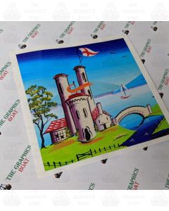 Traditional Canal Boat Castle  Scene 1
