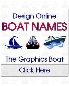 The Graphics Boat, vinyl boat name stickers