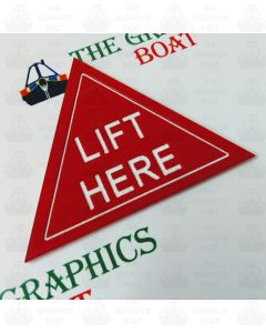 engraved boat safety sign, LIFT HERE.