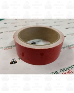 10m of dark red 20mm tape