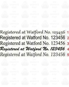 Registered at Watford Canal Boat Sticker