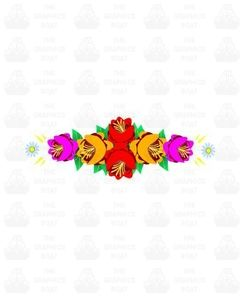 Traditional Style Canal Rose Sticker  Design 19