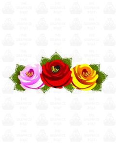 Traditional Style Canal Rose Sticker  Design 22