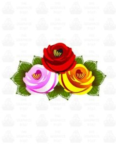 Traditional Style Canal Rose Sticker  Design 23