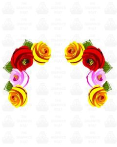 Traditional Style Canal Rose Sticker  Design 24