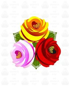 Traditional Style Canal Rose Sticker  Design 26