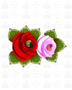 Traditional Style Canal Rose Sticker  Design 27