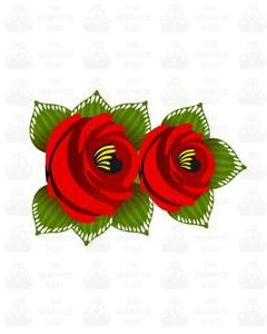 Traditional Style Canal Rose Sticker Design 28
