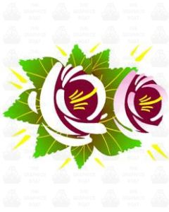 Traditional Style Canal Rose Sticker  Design 6