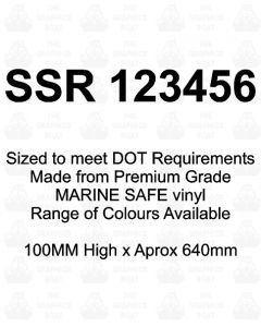 SSR Boat Boat Number Stickers 100mm High