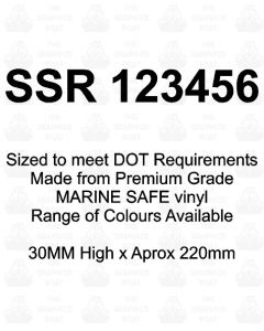 SSR Boat Boat Number Stickers 30mm High