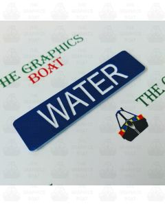 engraved water boat safety sign