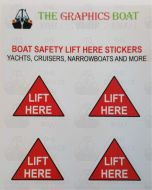 Boat Lift Here Stickers