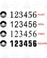 Canal and River Trust Canal Boat Number Stickers
