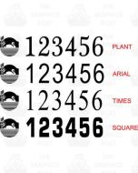 Combined BW and CRT Boat Index Numbers - OUR OWN DESIGN (Pair)