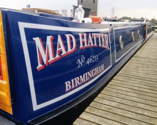 Narrowboat Name Stickers