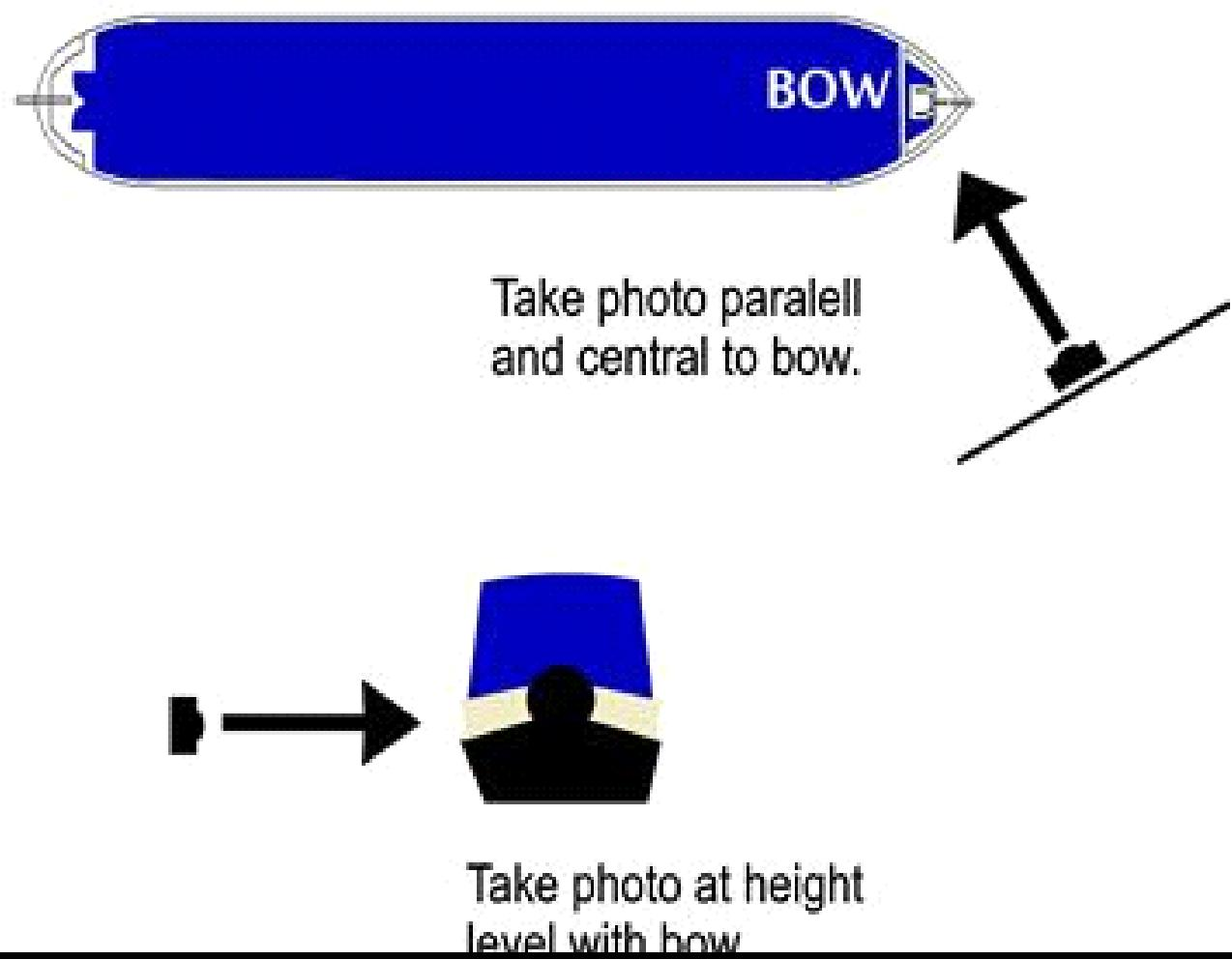 How to take a picture of boat bow
