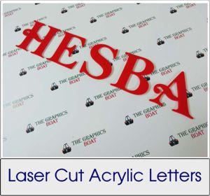 Laser Cut Acrylic Letters