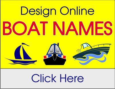 Boat Name Vinyl Lettering Designer