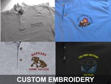 CUSTOM EMBROIDERY BY THE GRAPHICS BOAT